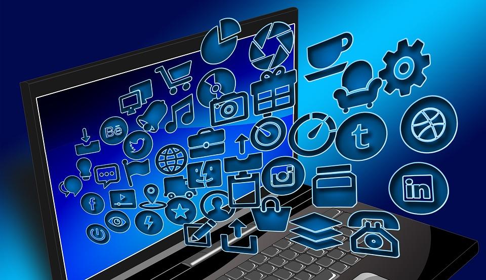 Laptop, Notebook, Structuur, Internet, Netwerk, Sociale