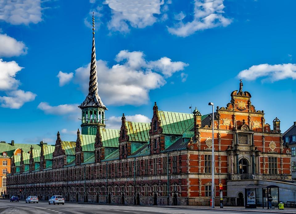 Copenhague, Dinamarca, Ciudad, Urbana, Cielo, Nubes
