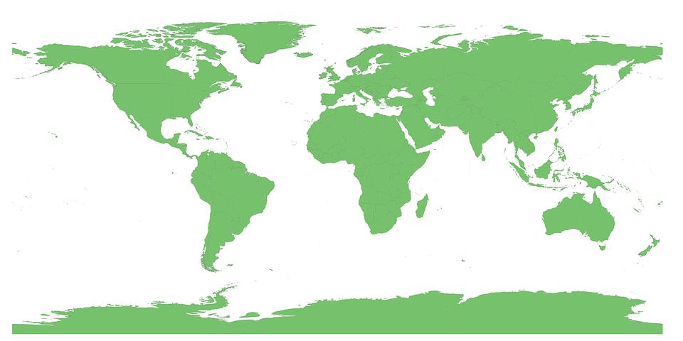 世界地図, 国, ベクトル, 地球