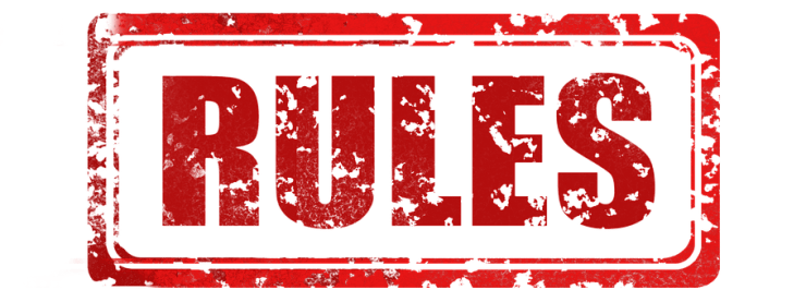 """An image that reads """"rules"""", in regards to this post about the golden rule."""