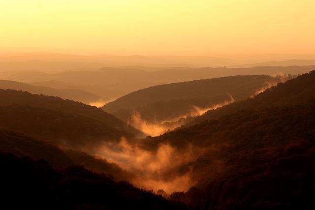Free Photo Mountains Sunset Clouds Nature Free Image