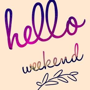 Weekend, Hello, Celebrate, Lettering, Cosmic, Space