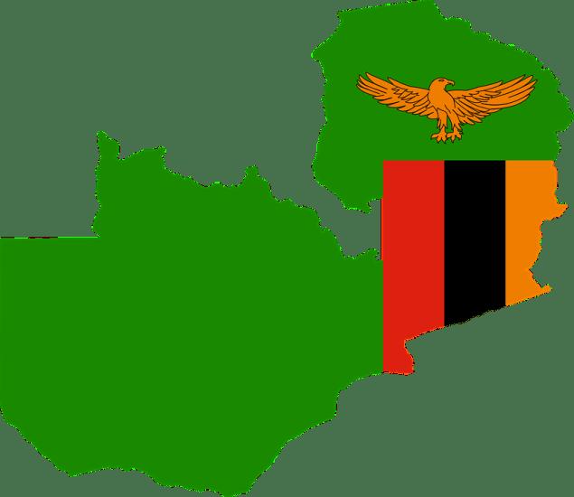 флаг карта Замбия
