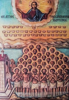 Icon, Saint Forty Martyrs, Cyprus