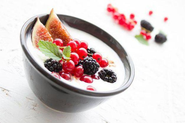 Yogurt, Berries, Fig, Fruits, Breakfast