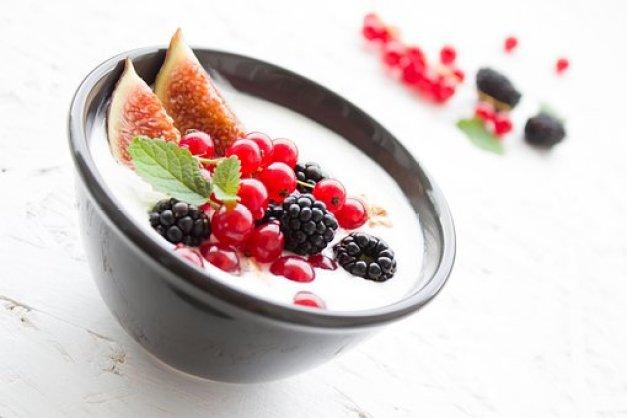 Yogurt, Berries, Fig, Fruits, Breakfast