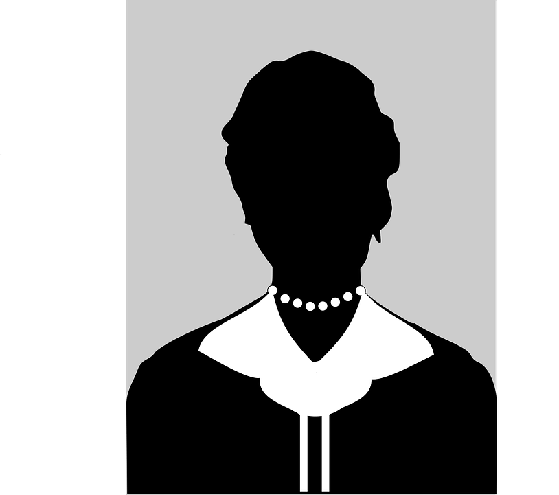 Silhouette Female Black And White Free Vector Graphic On