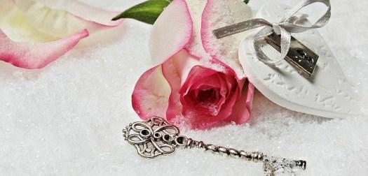 Cuore, Chiave, Rosa, Herzchen, Amore, Romanticismo