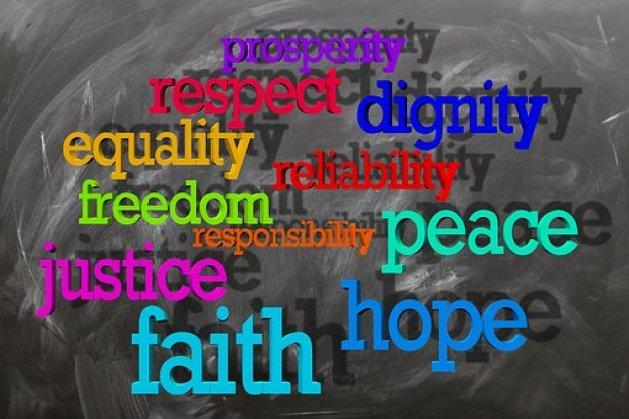 Board Blackboard Equality Freedom Harmony