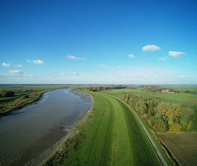 Aerial Foto Multicopter Landscape Ostfriesland