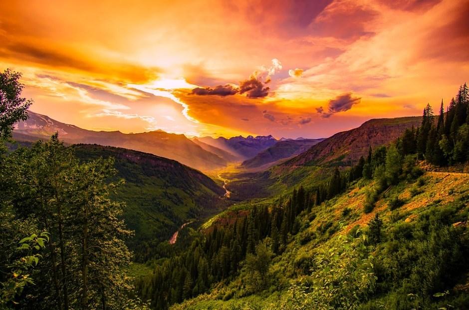 Montana, Puesta De Sol, Anochecer, Cielo, Nubes