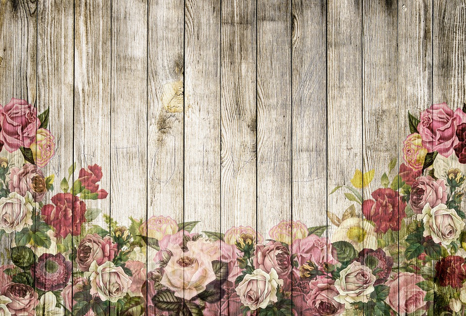 Wooden Wall Roses Background Free Image On Pixabay