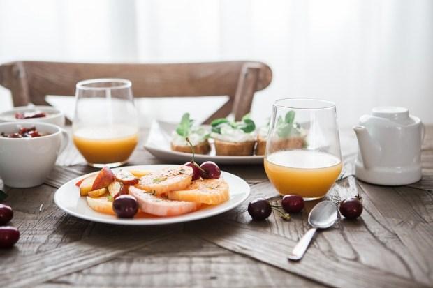 朝食, おいしい, ドリンク, 食品, オレンジ ジュース, フルーツ, ガラス, 健康, ジュース, 食事