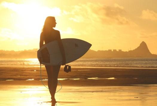 Beach, Surfer, Tavola Da Surf, Alba, Ragazza, Ocean