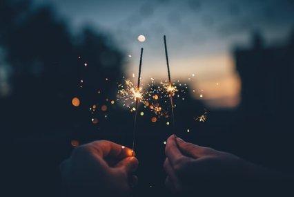 Dark, Fireworks, Hands, Lights, Macro, Connection, Spark, Telepathy