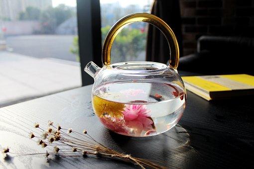 Tea Rose Corolla, Café, Book, Teapot