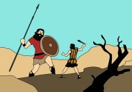 David And Goliath, Bible, Strength, Fight