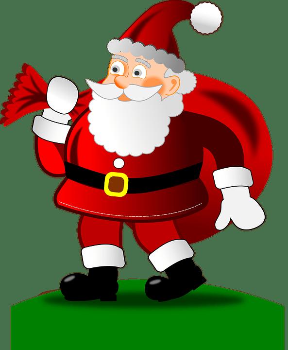 Free Vector Graphic Christmas Happy Santa Claus Free