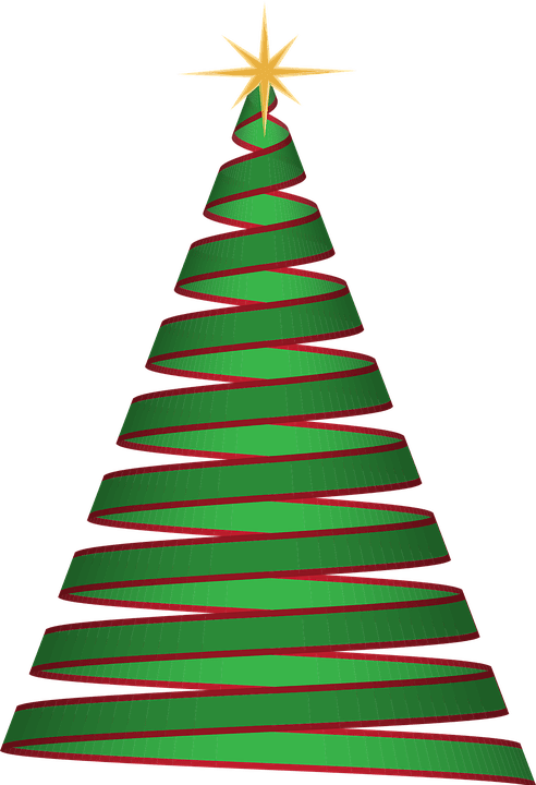 Christmas Tree Ribbon Green Free Vector Graphic On Pixabay