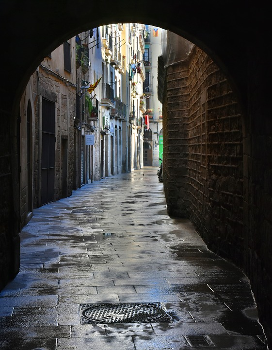 Free Photo Goal Alley Passage Wet Free Image On