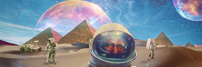 Espacio, Astronauta, Trippy, Pirámides, Hotep, Marte