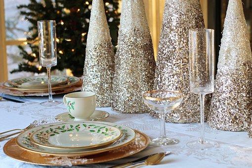 Dîner De Noël, Table De Noël