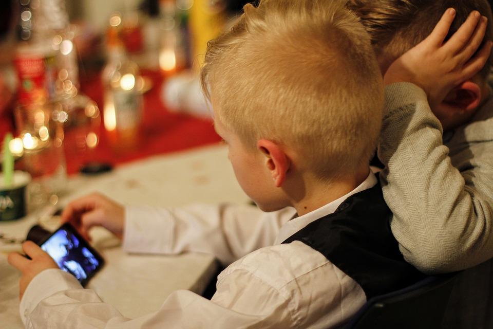 Bambini, Telefono Cellulare, Smartphone, Ascolta