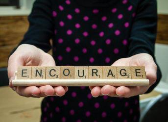 Word, Encourage, Scrabble Tiles, Letters