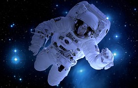 Free photo Astronauts Floating Fruit Space Free