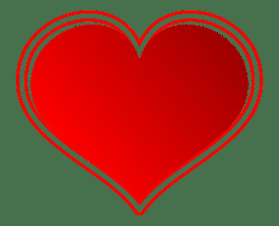 Illustration Gratuite Coeur Rouge Amour Symbole