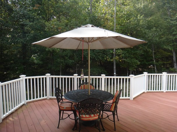 10-foot hanging cantilever patio umbrella