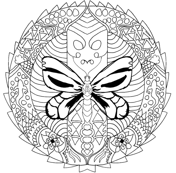 Kostenlose Illustration Mandala Malvorlagen Fr