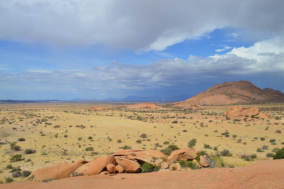 アフリカ, 草原, サバンナ, 自然, 風景, 乾燥, ナミビア, Spitzkoppe