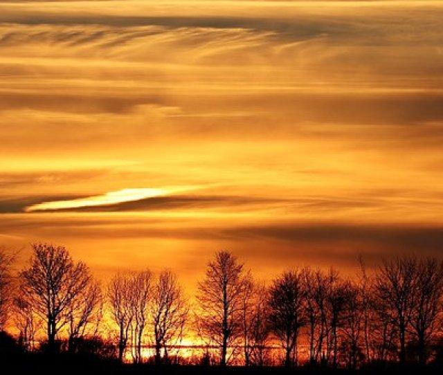 Sunset Sun Evening Sky Clouds