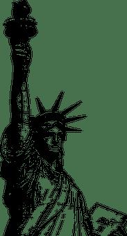 アメリカ, 有名な建物, ランドマーク, 自由, 記念碑, ニューヨーク