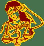 Geblinddoekt, Onrecht, Justitie, Dame