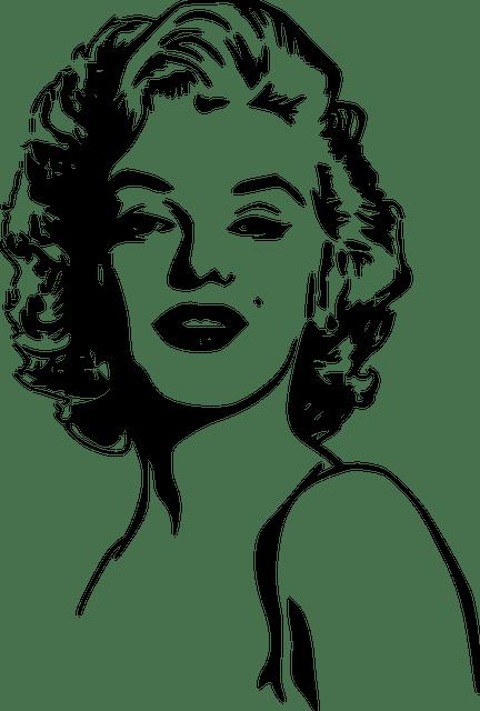 Marilyn Monroe Woman Portrait Free Vector Graphic On Pixabay