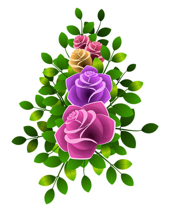 Free Illustration Roses Flowers Floral Flowery Free