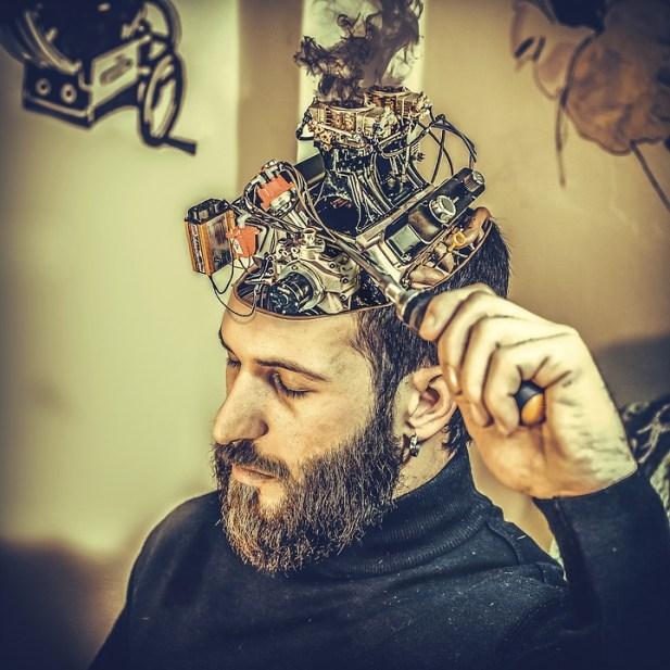 機械, 脳, 男, マシン, 操作
