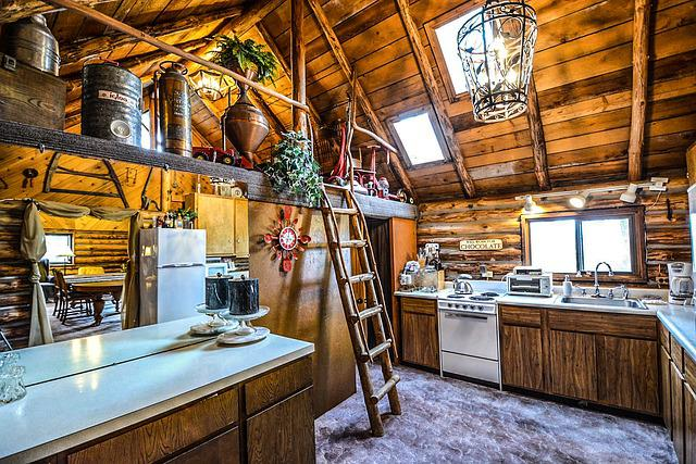 Free Photo: Log, Cabin, Rustic, Home, Interior