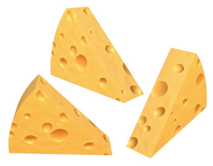 Cheese, 3D, Breakfast, Cartoons, Yellow, Fresh, Edam