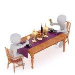 饗宴, テーブル, Gedeckter テーブル, 役立つ, ウェイター