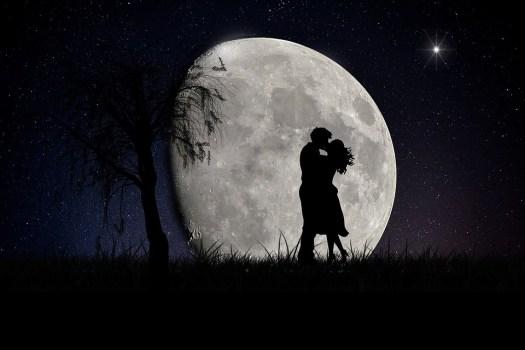 Luna, Amanti, Paesaggio Lunare, Amore, Romantico