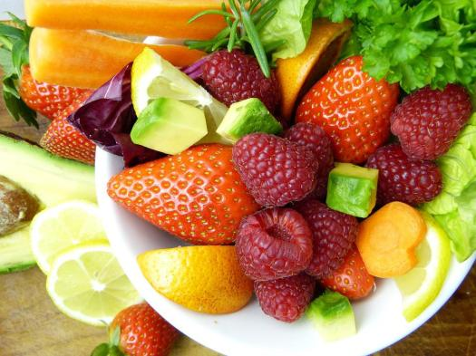 Frutta, Avocado, Limone, Arancione, Fragole, Lamponi