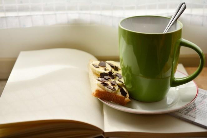 Xícara, Livro, Café da Manhã, Ler, Plano, Xícara de Café