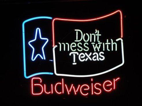 バドワイザー, シールド, 広告, 看板を広告, ネオンサイン, テキサス