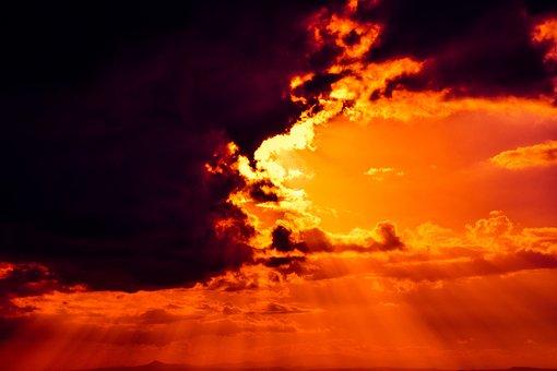 Himmelsfeuer, Offenbarung, Wolken, Licht