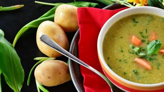 Zuppa Di Patate, Di Patate, Brodo, Aglio Dell'Orso