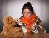 Girl, Flu, Medication, Toy