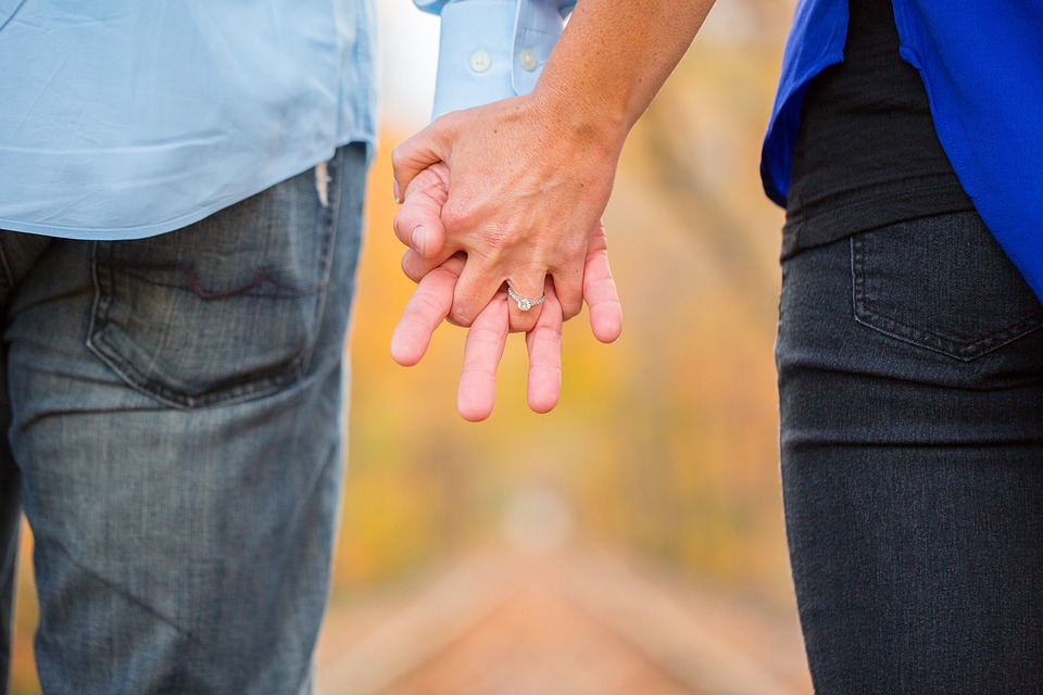 Holding Hands, Couple, Love, Together, Man, Woman